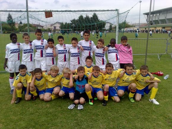 Les U11 de l'USC à Bourg Peronnas – US Cluny football – site officiel